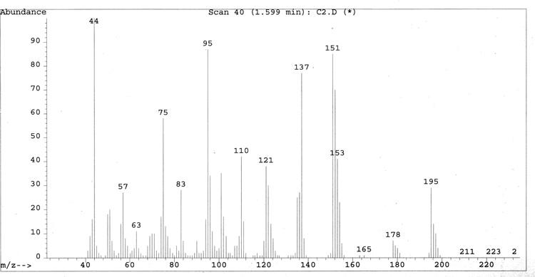 EI-Mass-spectrum